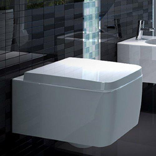 Bidet Wc-sitz-runde (Lux-aqua Wandhängende WC-Sitz Soft-Close NEU 2122)