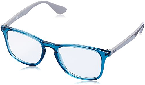 Rayban Unisex-Erwachsene Brillengestell RX7074, Blau (Transparente Blue), 50