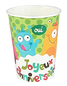 Dynastrib Happy Monster vasos 2080483, multicolor, 25cl