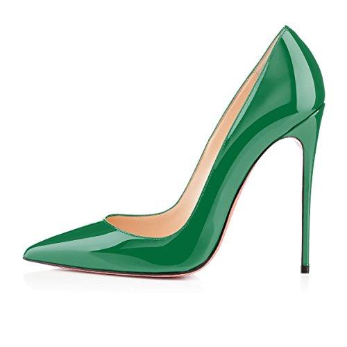 uBeauty Scarpe da Donna - Scarpe col Tacco - Classiche Scarpe col Tacco - Donna scarpe tacco - tacchi alti Verde