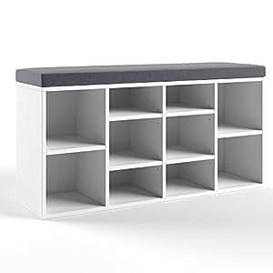 Schuhregal / Sitzbank schwarz-messingfarben, 80 cm Breit ...