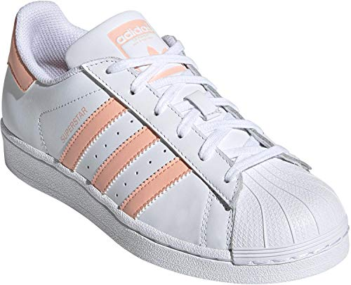 adidas Unisex-Kinder Superstar Sneaker, Weiß Glow Pink/Footwear White 0, 38 EU