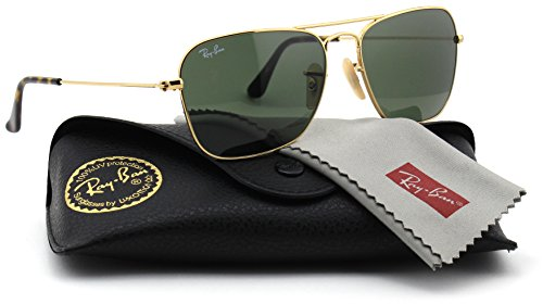 Ray-Ban RB3136 181 Unisex Caravan Sunglasses (Havana Gold Frame/Dark Green Lens 181, 55)