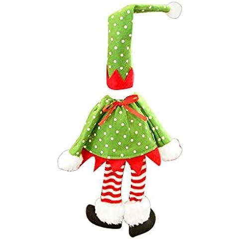 Bolsa de Botellas de Vino Caso Cubierta de Botella de Champán Papel Regalo Navidad Decoración - Verde y