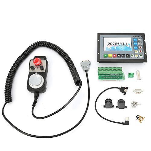 4-Achs-Offline-Steuerung, Lenkradsatz 5V 100PPR, mit Not-Aus-Funktion, für CNC-Werkzeugmaschinen und andere 0-Korrekturen und Signalsegmentierung