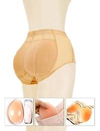"""Silicona acolchados pantalones–se puede utilizar como Tummy Control breve (S, M o L), mujer, color carne, Medium (brief waist 25"""")"""