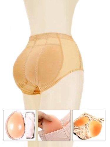 Gepolsterte Slip (KIKAR Silikon Gepolsterte Hose-Kann als Bauchkontrolle Slip (S, M oder L) Nude Medium (Brief Waist 25