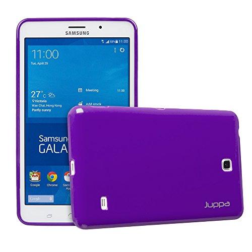 Juppa® Samsung Galaxy Tab 4 7,0 Zoll SM-T230 SM-T231 TPU Silikon Gel Tasche Hülle Schutzhülle mit HD LCD Displayschutz Schutzfolie Folie (Lila / - 7 Case Lg Gel Tablet