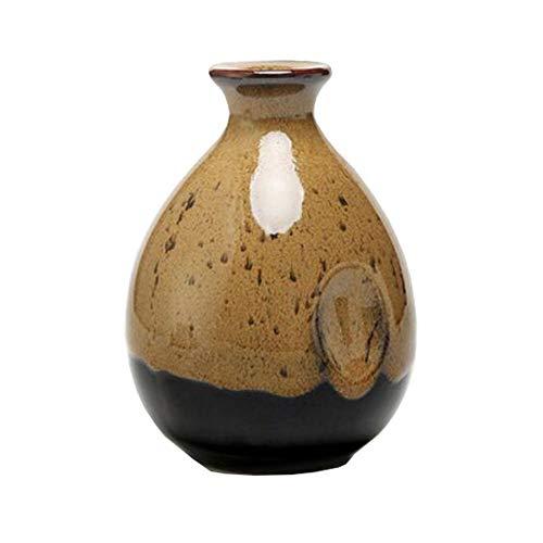 Mini chinesische Keramik Blumenvase Bud Vase Weinflasche, ideales Geschenk für Home Office, Dekor, Tischvasen, Bücherregal Ornamente Flaschen, Kaffee