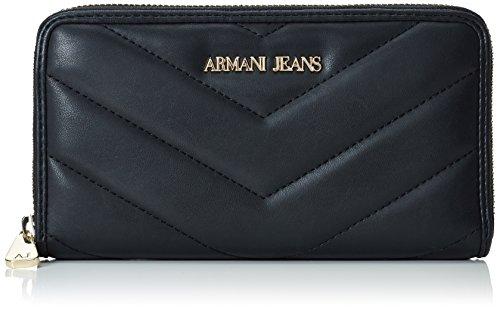 Armani Jeans9280326A718 - Portafogli Donna , Nero (Schwarz (NERO 00020)), 10x2x19 cm (B x H x T)