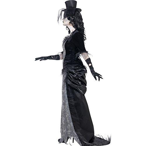 kostüm Geister Frau Halloweenkostüm M 40/42 Gothic Zombie Geisterkostüm Geist Kostüm Karneval Kostüme Damen Halloween Horrorkostüm Gespenst Faschingskostüm (Schwarze Witwe-frau)