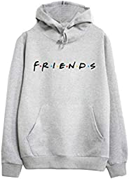 Womens Loose Friends Hoodie Cotton Blend TV Show Hooded Sweashirt Pullover Tops