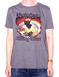 Rainbow T Shirt - Rising Tour 1976 Replica 100% Official Ritchie Blackmore With Backprint