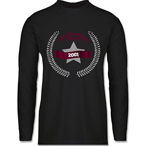 Shirtracer Geburtstag - 2001 Limited Special Edition - Herren Langarmshirt Schwarz