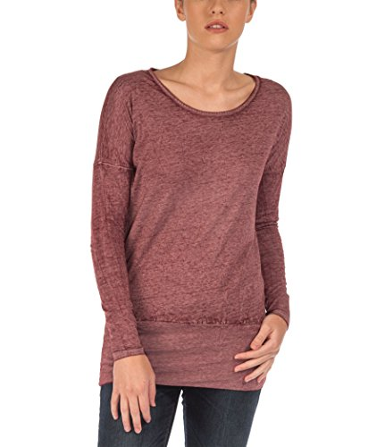 Bench Damen T-Shirt Long Sleeve Bemuze Small Zinfandel