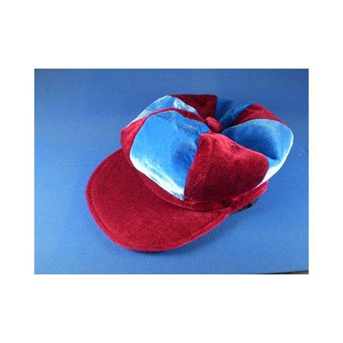 Kostüm Jockey Pferderennen - Rotwein & Himmelblau Schiebermütze Neuheit Jockey Kostüm Hut Pferderennen