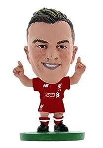 SoccerStarz SOC1327 Liverpool Xherdan Shaqiri-Home Kit (2019 Version)/Figuras, Verde