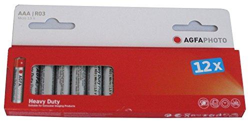 Agfaphoto Premium Pack de 12 Piles Zinc universel LR3/AAA 160 mAh