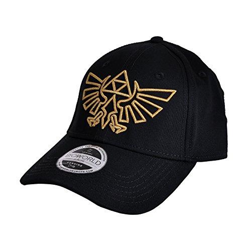 The Legend of Zelda Cap Gold Logo Curved Bill Cap