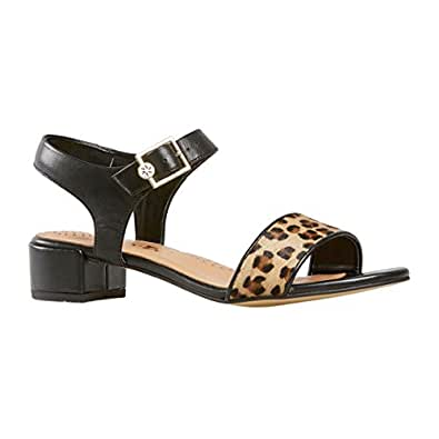Van Dal Shoes Womens Hollis Sandals in Black / Cheetah