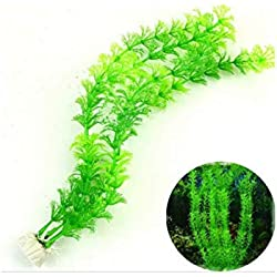 Xiton Künstliche Grünpflanze Gras Wasserpflanzen für Aquarium Aquarium Dekor Ornament Dekoration Kunststoff Submarine