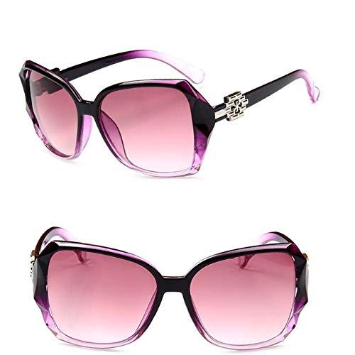 GUOTAIEUP Klassische Sonnenbrille Eyewear Eyeglasses Gradient Sonnenbrille Frauen Markendesigner Driving Glasses Vintage Large FrameLila