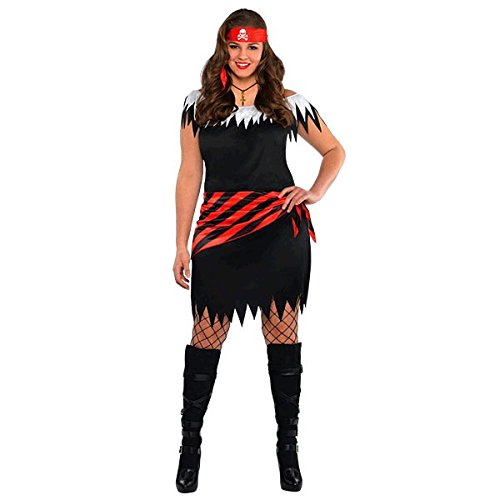 Piratenbraut Kostüm Ahoy Katie Damen Gr. (Mit Stiefel Kostüm Matrose)