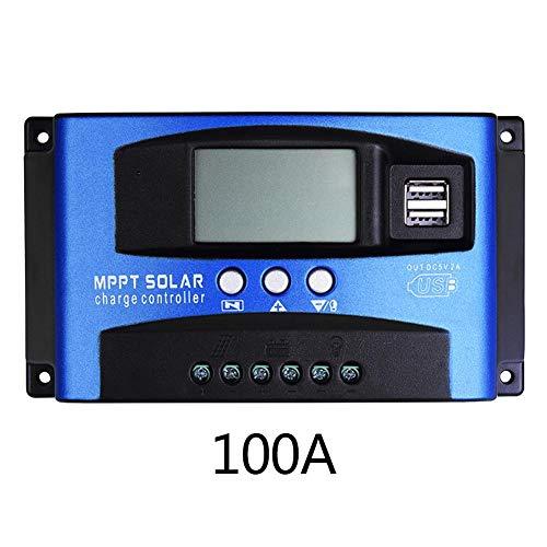 HEIRAO LCD Solar Controller für Blei-Säure-Batterien, MPPT mit Autofokus-Strom Hochleistungs-Lade- und Entladestrom-Anzeigefunktion, 30 A / 40 A / 50 A / 60 A / 100 A, 12 V oder 24 V adaptiv 24 Volt 100 Amp