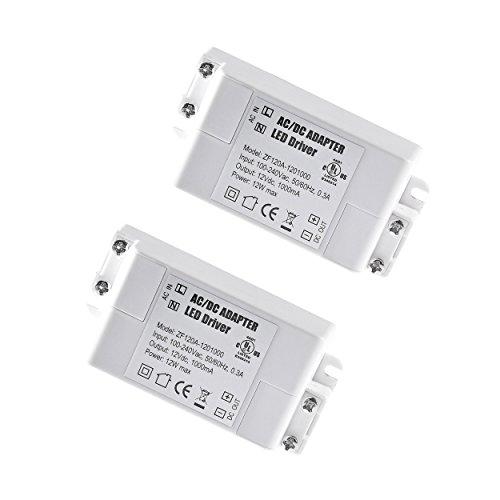 YAYZA! 2-er Pack Premium IP44 12V 1A 12W Niedrige Spannung LED-Treiber Transformer AC DC Schalter Stromversorgung -