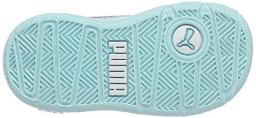 Puma Stepfleex Fs Sl V Inf, Sneakers Basses Mixte Enfant Blanc (Puma White-aruba Blue 22)