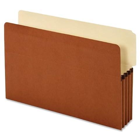 Globe-Weis/Pendaflex Standard End Tab File Pockets, 3.5-Inch Expansion, 2/5 Cut Tab, Tyvek, Legal Size, Brown, 10 Pockets Per Box