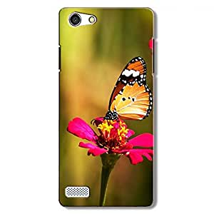 Abaci designed Oppo A33 Mobile Backcover with Perfect Matte finishing and Butterfly Illustration design(Multicolor)