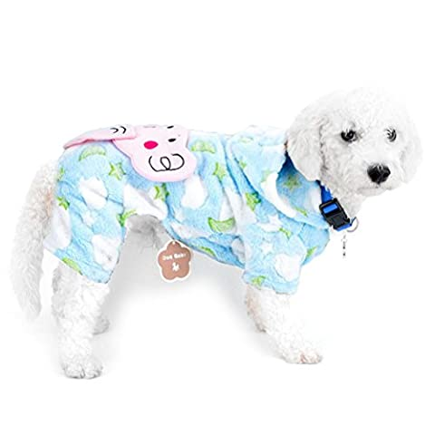 Zunea Combinaison d'hiver pour chiens de petite taille à capuche en velours éléphant Puppy Pyjama Manteau pour animal domestique Chat Chien tenues Vêtements Apparel