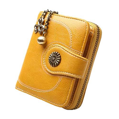 f9ef3bf518 Coopay Portafoglio Donna Piccolo in Morbida PU Pelle, Mini Portamonete Donna  Ragazza Zip Borsa Portafogli