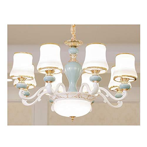 8-licht-esszimmer-kronleuchter (LED Kristall Deckenleuchter kreative Wohnzimmer Schlafzimmer Esszimmer Kronleuchter, warmes Licht, 8 Köpfe / 80X50CM)
