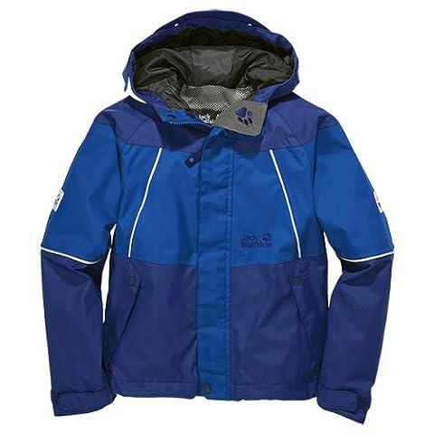 Jack Wolfskin Jungen Wetterschutzjacke Boys Emerald Jacket, Active Blue, 92, 1603611-1080092
