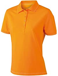 James & Nicholson Funktionspolo Elastic - Polo Mujer, Naranja (orange/white), Medium (Talla del fabricante: Medium)