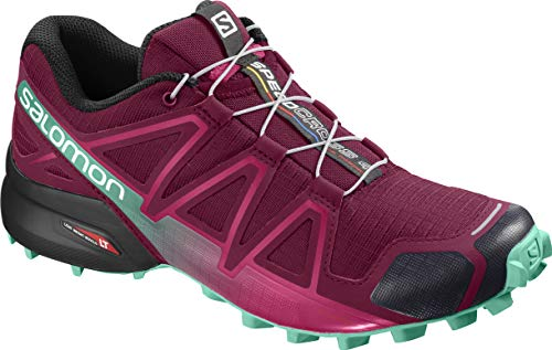 Salomon Speedcross 4 W, Scarpe da Trail Running Donna, Rosso (Beet Red/Electric Green/Black), 42 EU