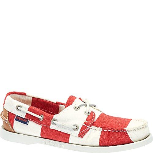 Sebago SPINNAKER Herren Bootsschuhe Rot(Rot/Weiß)