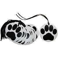 50x etiquetas de regalo de huellas y lazo de atar–negro color blanco cachorro perro gato amante regalo etiquetas