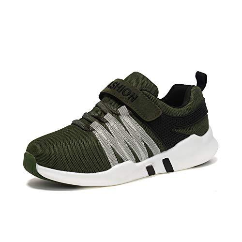 Unpowlink Kinder Schuhe Sportschuhe Ultraleicht Atmungsaktiv Turnschuhe Klettverschluss Low-Top Sneakers Laufen Schuhe Laufschuhe für Mädchen Jungen 28-37, 1823-schwarz und Blau-a, 39 EU