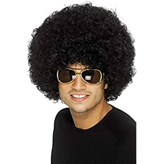Smiffys Funky Afro Wig - Black, One Size