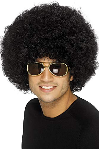Black Funky Afro Wig for Adults.
