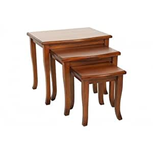 Pacific Wooden Nest Of Tables Decor Furniture Living Room Home Kitchen Home
