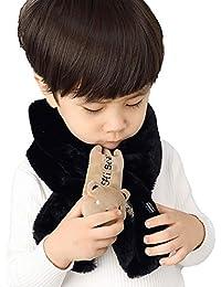 LONTG Bambini Bambino Inverno Caldo Carino Collo Sciarpa Scialle Super Soft  Sciarpe peluche Ciclo sciarpe Neckerchief Scaldacollo con… cd2147f3dc29