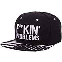 Tongshi Algodón bordado gorra de béisbol del Snapback Niños Niñas Hip Hop sombrero plano
