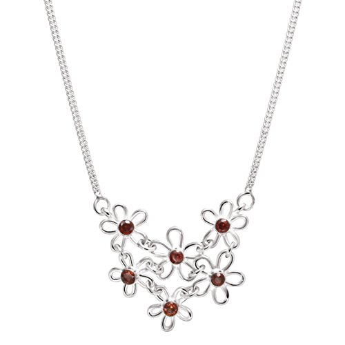 franki-baker-delicate-daisy-flower-red-garnet-gemstones-sterling-silver-necklace-length-44cms