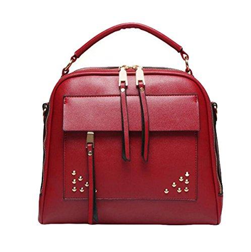 Art Und Weisehandtasche Diagonale Paketnietschulterbeutel Einfaches Wildes Red