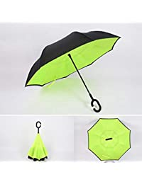 Regenschirm Taschenschirm Schwarz Mit Streifen In Neonfarben verschiedene Farbe Damen-accessoires