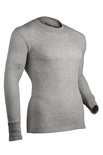 Indera Herren Traditionelle Long Johns Thermo-Unterwäsche Top, Herren, 800LS, grau meliert, XXXXXXL -